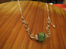 Load image into Gallery viewer, NECKLACE WITH HAND MADE PAPER BEADS