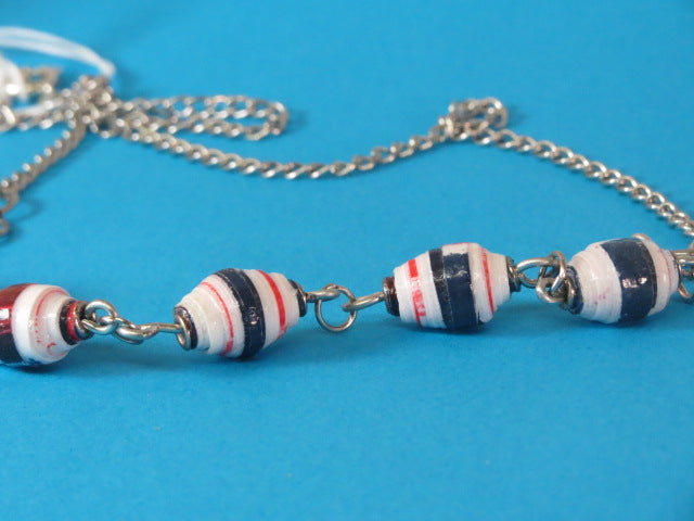 NECKLACE HANDMADE PAPER BEADS