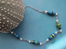 Load image into Gallery viewer, NECKLACE HANDMADE PAPER BEADS