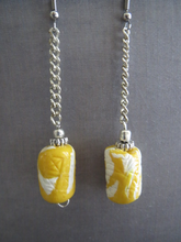 Load image into Gallery viewer, Earrings handmade Lemon yellow