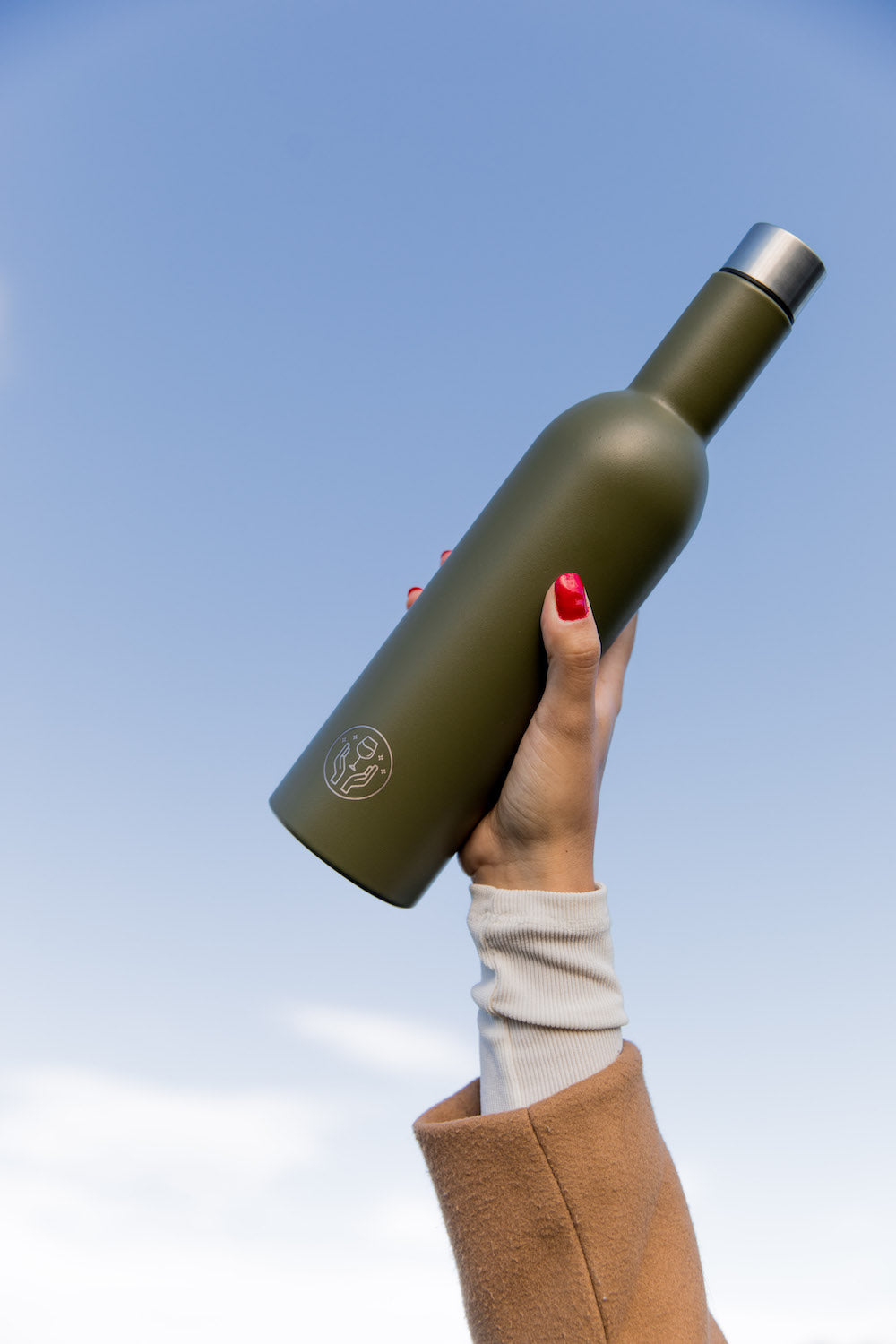 The Partner in Wine Bottle - Khaki