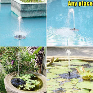 2020 Spring 6  Nozzles Solar Powered Bionic Fountain