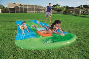 Ultimate Dual Water Slide Sprinkler, Splash Pool