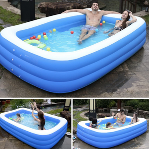 Inflatable Kids Swimming Pool for Home & Garden 1.5m/1.8m/2.1m