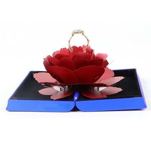 3D Pop Up Rose Ring Box