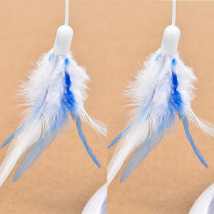 Feather Teaser Cat Toy For Multifunction Electric Interactive Rotating Pet Funny