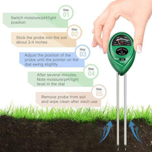 2 pcs Plant Soil Meter 3 in 1