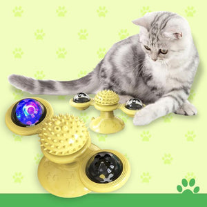 Flash Rotary Cat Toy