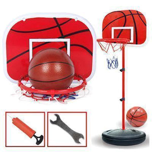 2020 Kids Portable Height-Adjustable Basketball Hoop System Stand - Black