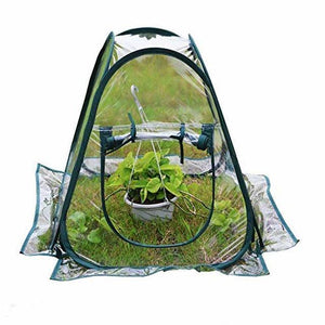 PVC Portable Foldable Mini Garden Greenhouse Cover Flower House Planting Insect-Proof Bird Cover For Outdoor Protection