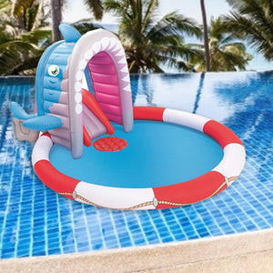 Inflatable Swimming Pool Spray Water Pad Funny Child Paddling Pool Baby Kids Bathtub Ocean Ball Pad Thickened Swimming Pool PVC Ableasy