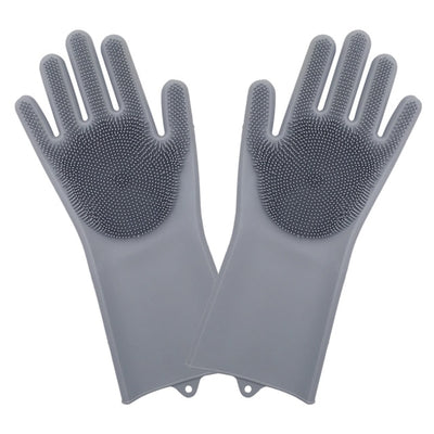 Dishwashing Silicone Cleaning Kitchen Gloves