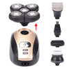5 In 1 4D Men's Rechargeable Bald Head Electric Shaver