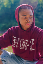 Load image into Gallery viewer, Maroon HOPE Hoodie (White)