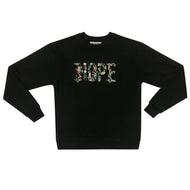 Black HOPE Crewneck Sweatshirt (Color)