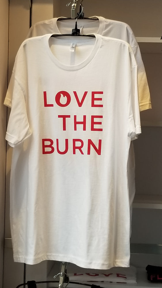 Load image into Gallery viewer, Love the Burn -white T