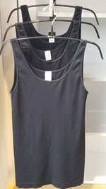 Black Fitted Tank -  one size fits all