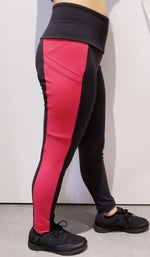 FNB Leggings- Red/Blk