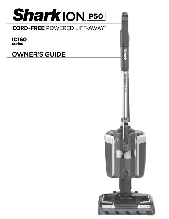 IC150 - Shark ION P50 Product Manual