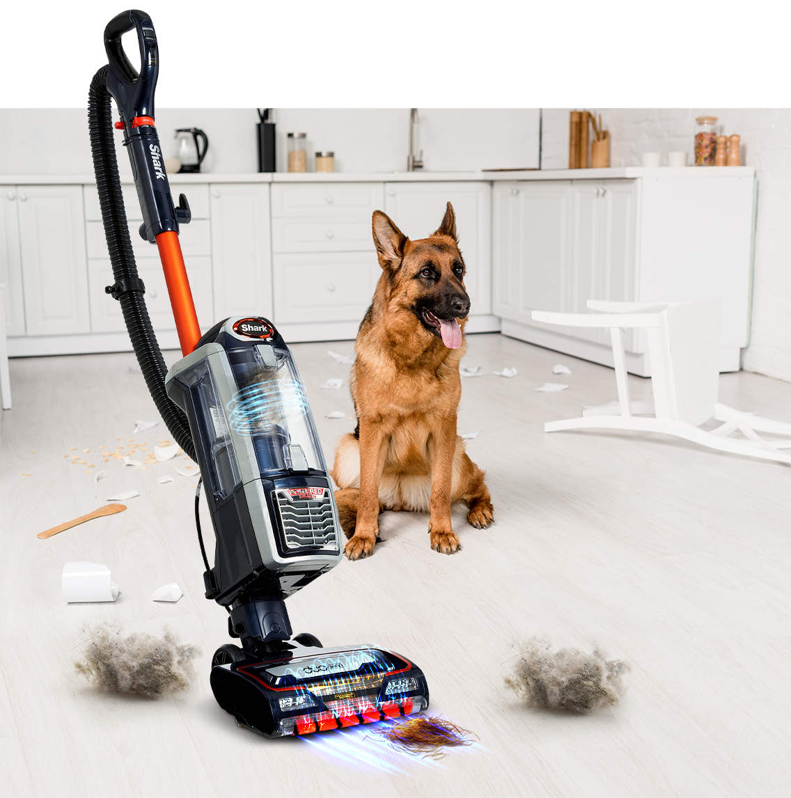 removing debris with duoclean floorhead
