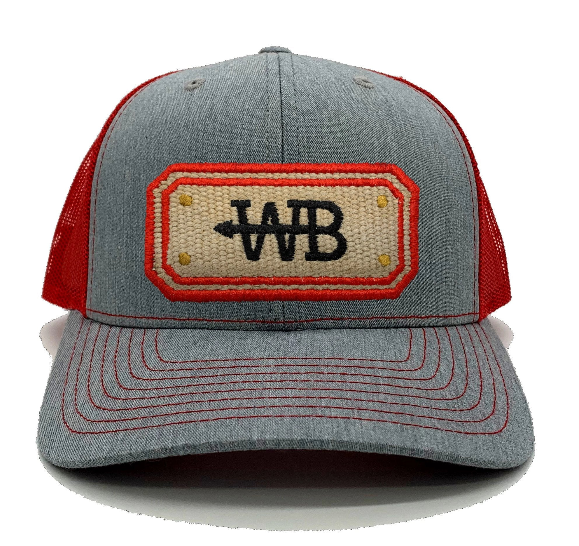 Hose Hat - Heather Gray/Red