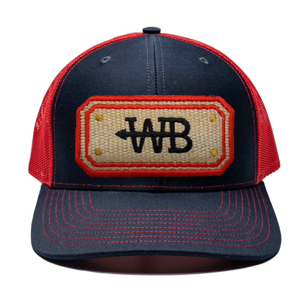 Hose Hat - Navy/Red
