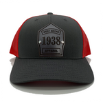 Shield Hat - Charcoal/Red