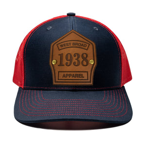 Shield Hat - Navy/Red
