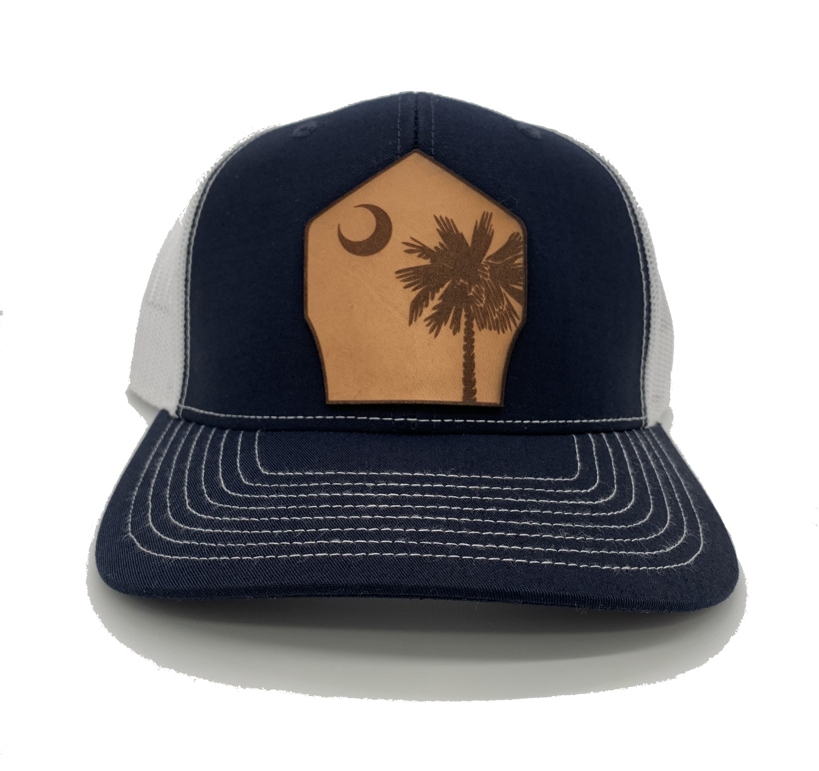 Hometown Leather Shield Hat - South Carolina
