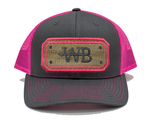 Hose Hat- Charcoal/Pink