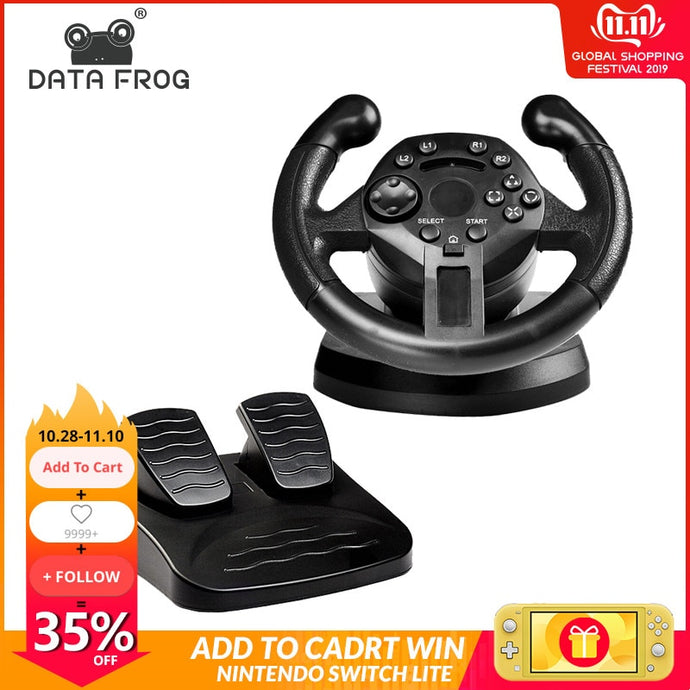 Racing game steering wheel
