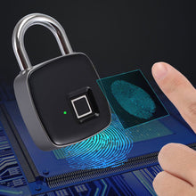 将图片加载到图库查看器,Stainless steel fingerprint padlock