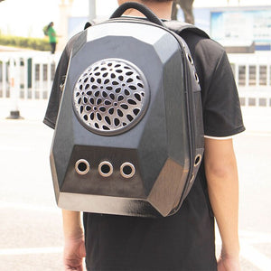 Oversized capsule dog and cat backpack