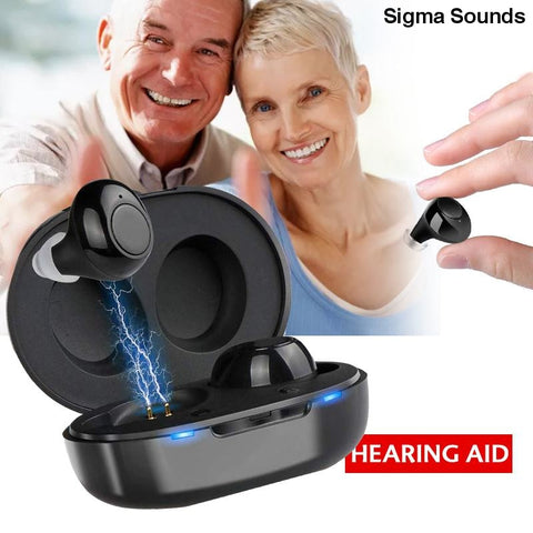 1 Pair USB Adjustable Rechargeable Mini In Ear Portable Invisible Hearing Aids For Deaf Elderly - Sigma Sound L L C