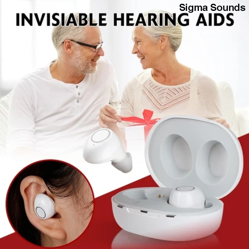 1 Pair USB Adjustable Rechargeable Mini In Ear Portable Invisible Hearing Aids For Deaf Elderly - Sigmaya L L C