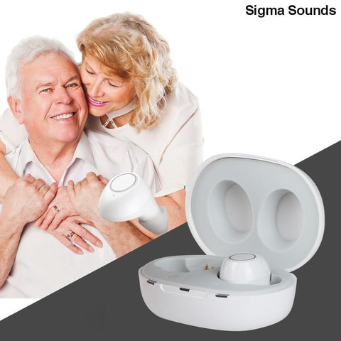 Image of New Digital Hearing 1 Pair USB Adjustable Rechargeable Mini In Ear Portable Invisible Hearing Aids For Deaf Elderly - Sigmaya L L C