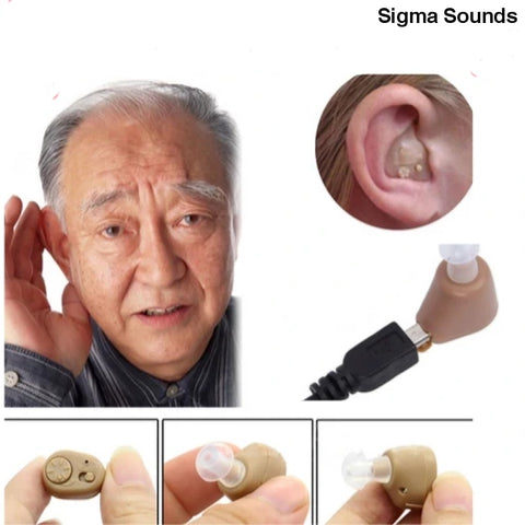 Image of Adjustable Rechargeable mini invisible hearing aid - Sigmaya L L C