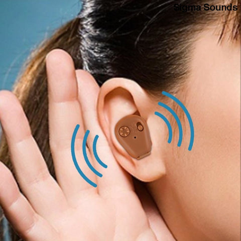 Image of Adjustable Rechargeable mini invisible hearing aid - Sigma Sound L L C