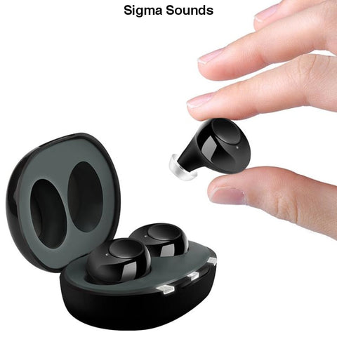 Pair USB Adjustable Rechargeable Mini In Ear Portable Invisible Hearing Aids For Deaf Elderly - Sigmaya L L C