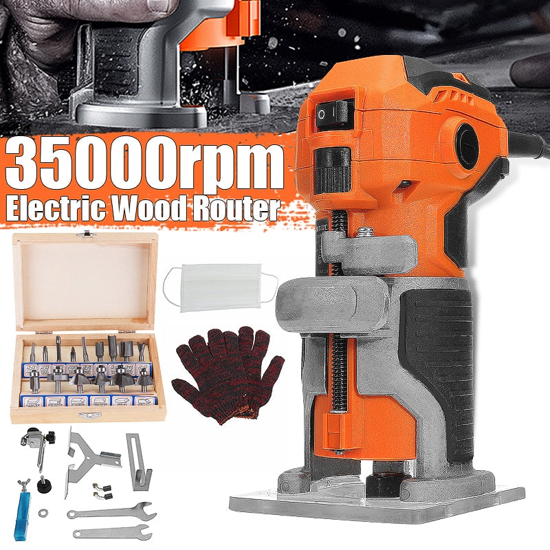 Wood Electric Trimmer Woodworking Wood Milling 1280W 35000r/min Electric Hand Trimmer - Sigma Sound L L C