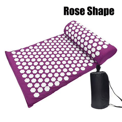 Image of Mat Acupressure Massage Yoga Mat with Pillow - Sigma Sound L L C