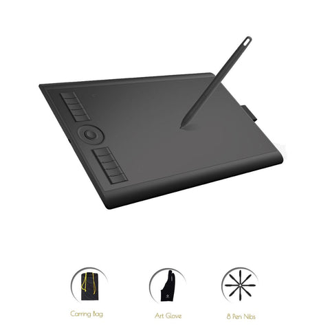 Digital Graphic Tablet for Drawing with 8192 Level Pen Pressure 10 x 6.25 Inches - Sigma Sound L L C