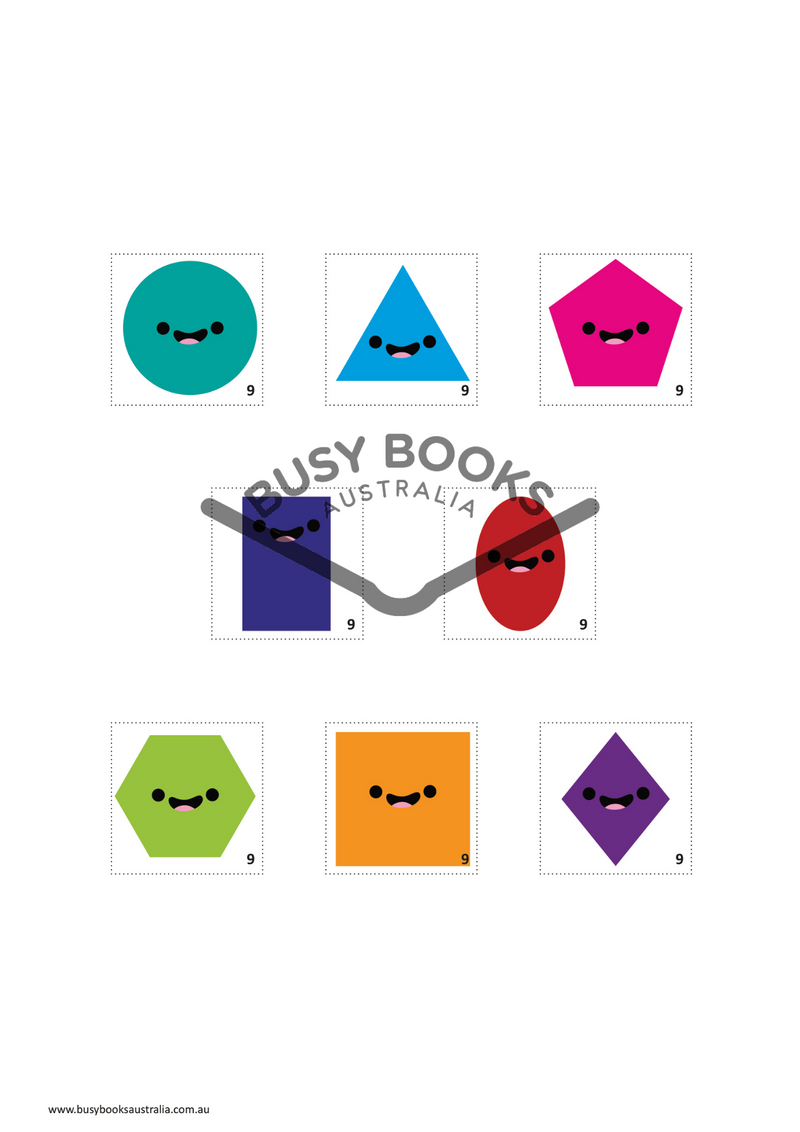 Toddler educational activity book and childrens educational activity book. Learn Shapes. Learning through play with Busy Books Australia