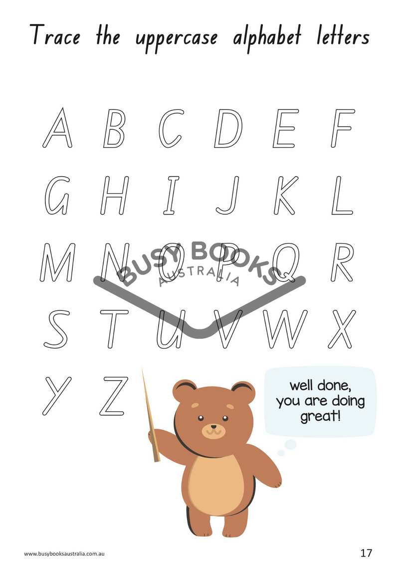 Toddler educational activity book and childrens educational activity book. Learn Writing Skills. Learning through play with Busy Books Australia