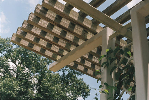wooden patio shade