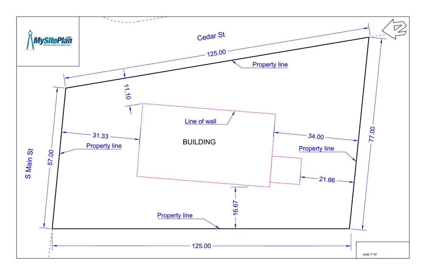 Simple plans drawing for Site plan drawing online