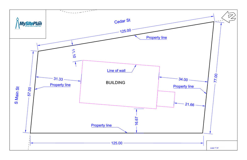 Simple plot plan drawn by our designers and emailed as a PDF within – Plot Plan And Site Plan