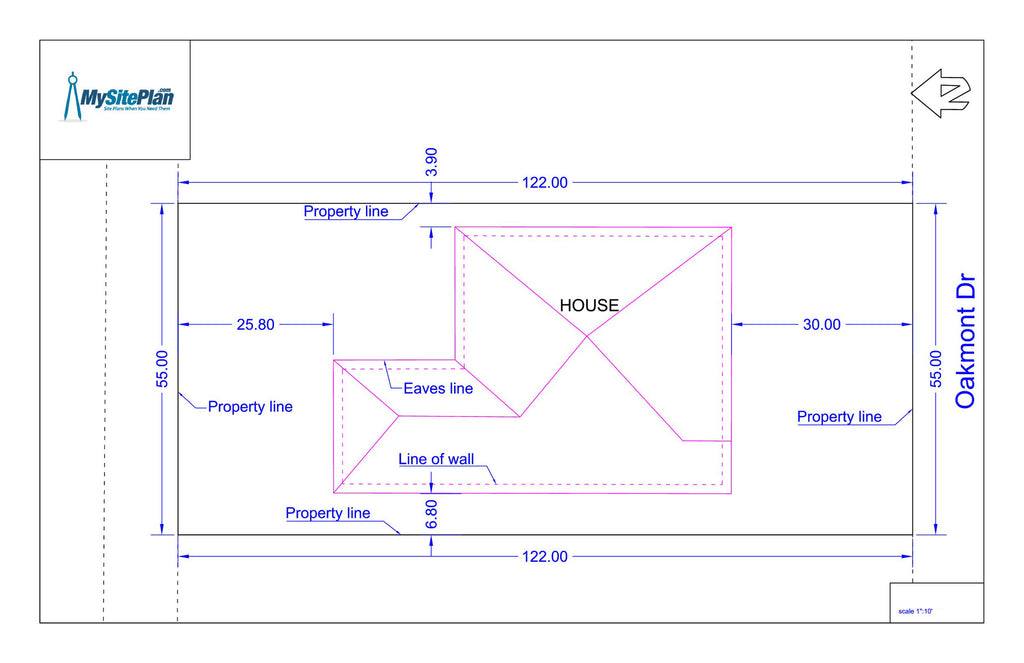 Simple plot plan drawn by our designers and delivered as a for How to plan a website