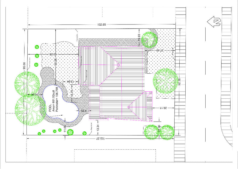 Detailed site plan my site plan for Swimming pool site plan