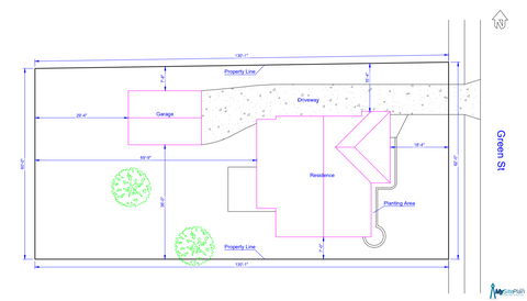 A site plan example from My Site Plan